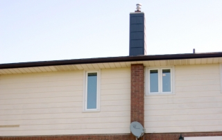 Chimney damage by moisture