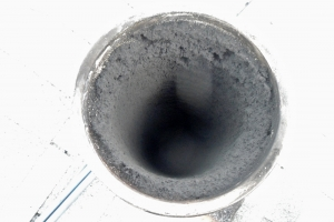 Heavy oil soot in flue