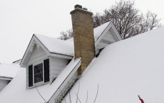 Have your chimney cleaned before the winter snow arrives